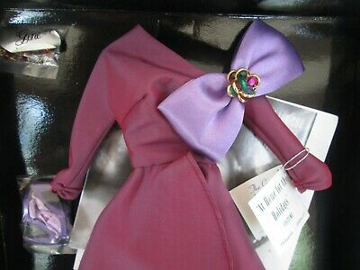 Gene Doll AT HOME FOR THE HOLIDAYS Purple Dress  Ashton-Drake Collection NRFB