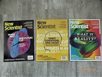New Scientist Magazine 3 x Issues in January / February 2020,