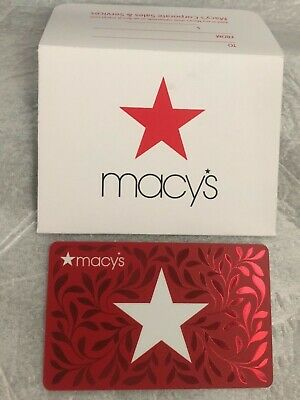 MACY'S 47.50 GIFT CARD with Gift sleeve (Physical plastic, Not An E-Card)