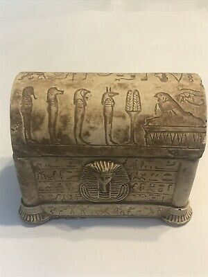 Ancient Egyptian decorated faience safebox