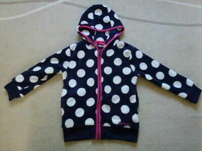 Kids, Girls, Peter Storm Hoodie, Size 3-4 years,  Blue with White spots.