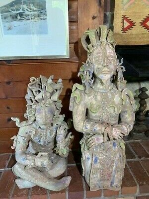 Mayan sculptures, terracotta, large