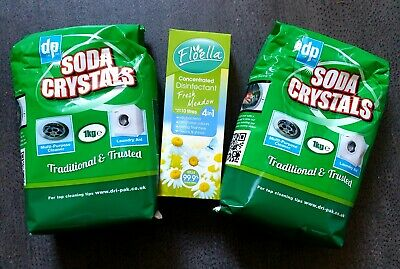 2 x 1kg Dri-Pak Soda Crystals - For Drains and More + Floella disinfectant