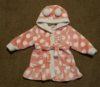 baby girls minnie mouse dressing gown. Matalan. 12-18 months