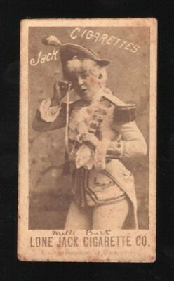 Lot 5: 1890 N369 Lone Jack Actresses Mille Burt -- cigarette tobacco card