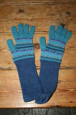 Fair Isle Women's  Wool Elbow Gloves