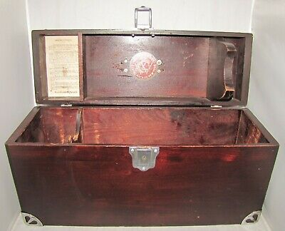 Willcox & Gibbs Wood Carrying Case Box for Electric Sewing Machine