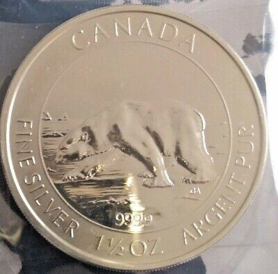 CANADA 1,5  once  8 dollars 2013 Ours polaire argent 999.9  ( 46.6 g ) spl