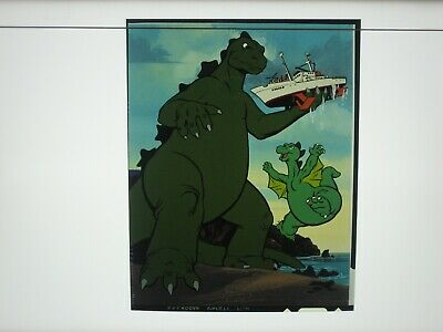 Rare 1978 Hanna Barbera Godzilla TV Cartoon Production Transparency Marvelmania!