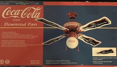 Coca Cola 44 Inch Ceiling Fan & Light,  New In The Box, Collectible Item.