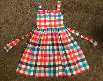Marks  and Spencer M&S girls gingham check dress 5-6 years