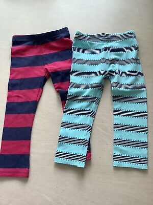 Two pairs of girls Tommy Hilfiger leggings age 2 years