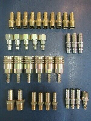 Dixon Lot Of 34 Assorted Pneumatic Fittings  Coupler