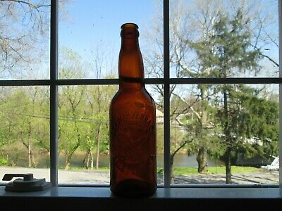 Amber Beer Bottle Schwarzenbach Brewing Co. Galeton Pa Eagle