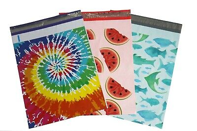 100 PCS 10x13'' Red Blue Pink Yellow Designer Mailers Poly Shipping Envelopes
