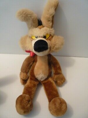 """Vintage 24K Mighty Star Wile E. Coyote 18"""" Plush 1993 Warner Brothers Toy"""
