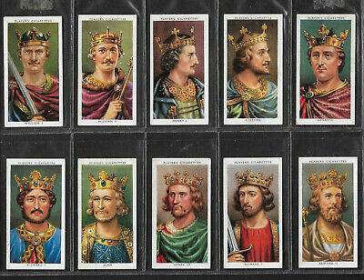 "John Player & Sons 1935 "" Kings And Queens Of England "" complete set of 50 cards"
