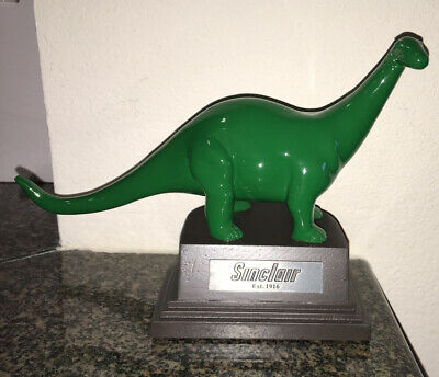 Sinclair Dino Statue Brand New In Box - Cherry Wood Base Awesome Dinosaur