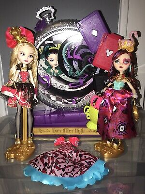 Ever After High Way To Wonderland Lot Raven Queen Apple White Lizzie Hearts Doll