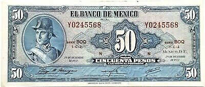 Mexico 50 Peso 1972 World Paper Money