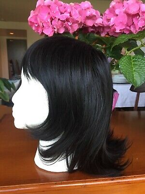 Wig by Wigsbuy Gorgeous Dark Brown/Black Layered Medium Shag Bangs New with Tags