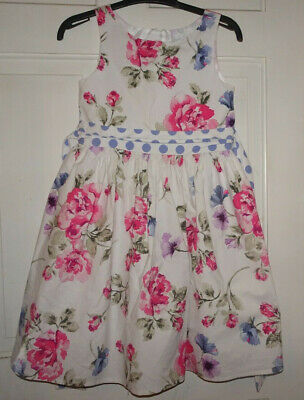 Next Girls Pretty Floral Summer Dress - 7 Years