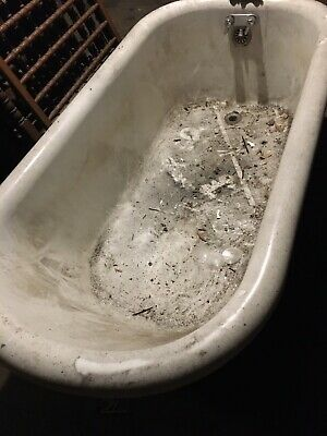 VINTAGE CLAW FOOT CAST IRON BATHTUB - Original Faucet Included!