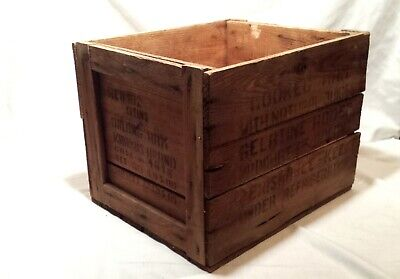 Vintage Large Krakus Polish Ham Wooden Shipping Crate Box - Fits Record Albums