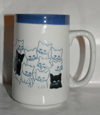 Otagiri Cat Kitten Stand Out in a Crowd Coffee Mug Vintage Japan 1970s