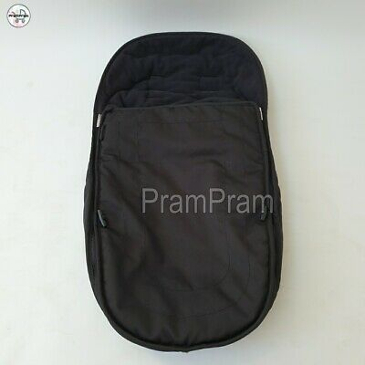 """iCandy Peach 3 pushchair BLACK Footmuff cosy toes universal with ZIP """"WASHED"""""""