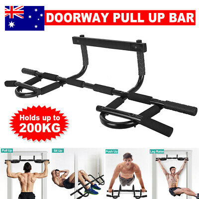 Pull Up Bar Chin Gym Door Doorway Muscle Fitness Power Exercise Station Portable