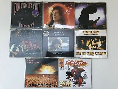 Brian May QUEEN lot stock 8 cd single BACK TO THE LIGHT LAST HORIZON NOBODY KNEW