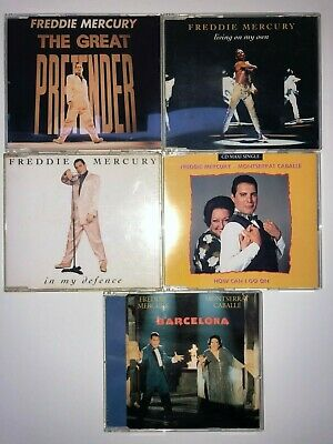Freddie Mercury QUEEN lot stock 5 cd single HOW CAN I GO ON, IN MY DEFENCE