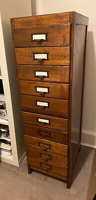 10 drawer timber filing cabinet