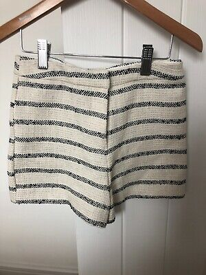 Girls River Island Cream & Black Glitter High Waisted Shorts With Zip Age 9