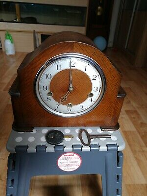 VINTAGE SMITH'S ENFIELD WESTMINSTER CHIME MANTLE CLOCK (Read Description)