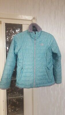 Girls The North Face Ski Winter Reversible Jacket, Size Medium 10-12 Years Grey