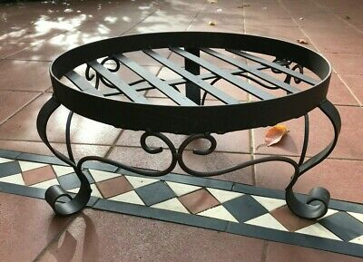 French Provincial Solid Wrought Iron Metal Flower Pot Plant Stand Display