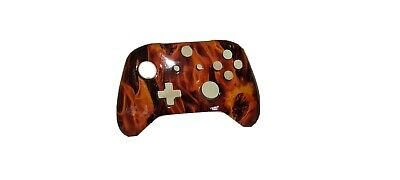 Custom Flaming Skull Xbox One Controller Faceplate