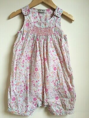 Toddler Baby Girl Flower Floral Playsuit Romper Dungarees Next 1.5-2 Years 18-24