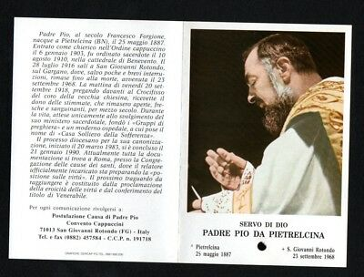 Holy card relic del Padre Pio estampa reliquia santino image pieuse andachtsbil