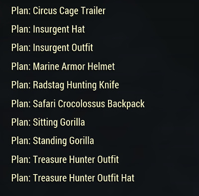 Fallout 76 Treasure Hunt Event Plans Complete Set (PC Only)