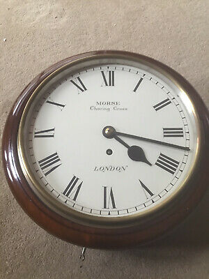 """English Fusee 10"""" Dial Clock In Extreemly Good Condition"""