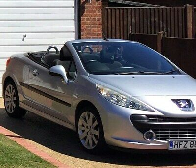 Peugeot 207 Convertible 1.6 - 2007 - Silver - Only 64K Miles