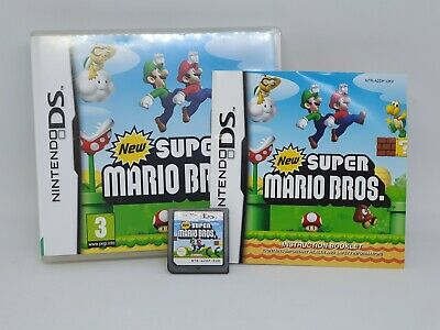 New Super Mario Bros. (Nintendo DS, 2006) Game Boxed + Inserts Good Working Cond