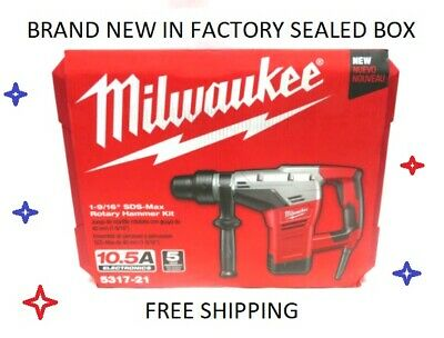"Milwaukee 1-9/16"" SDS Max Rotary Hammer Kit 5317-21  NEW IN FACTORY SEALED BOX"