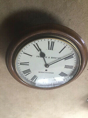 """Fusee Dial 12"""" Victorian English Clock In Excellent Condition"""