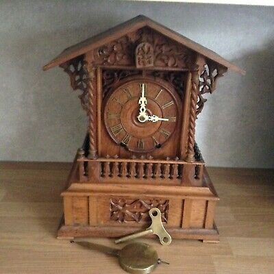 BLACK FOREST DOUBLE FUSEE CUCKOO CLOCK - PROBABLY J.B.BEHA c 1850 / 1860