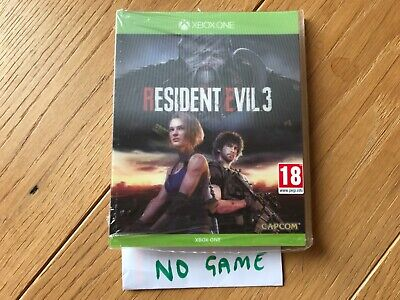 Limited Edition RESIDENT EVIL 3 REMAKE LENTICULAR SLEEVE XBOX ONE no game inside