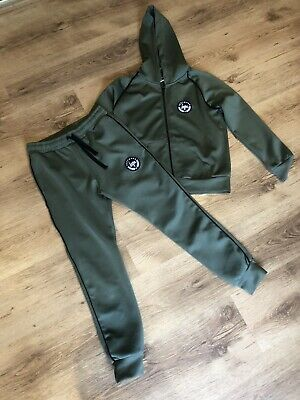 Khaki Green  HYPE Girls Age 11-12 tracksuit Jogging Bottoms & Hoodie Jacket top